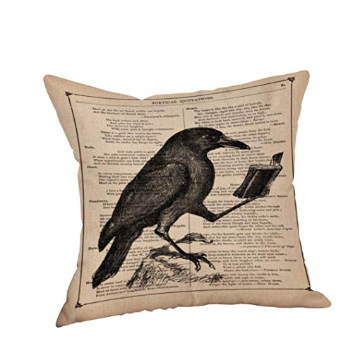 YOcheerful Clearance Deals Happy Halloween Pillow Cases Cusion Cover Home Decor (O,Free Size)
