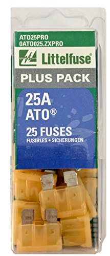 Littelfuse ATO25PRO ATO BP PRO Fast-Acting Automotive Blade Fuse - 25 Piece (80 Piece Fuse)