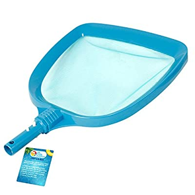 """U.S. Pool Supply Professional Heavy Duty Large 15"""" x 16"""" Swimming Pool Leaf Skimmer Net - Wide Mouth Scoop Design for Faster Cleaning and Easier Debris Pickup and Removal"""
