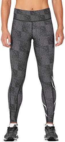 (Large, Candlelightpeachbrokenmaze/Wht) - 2XU Women's Mid-Rise Print Storage Tights