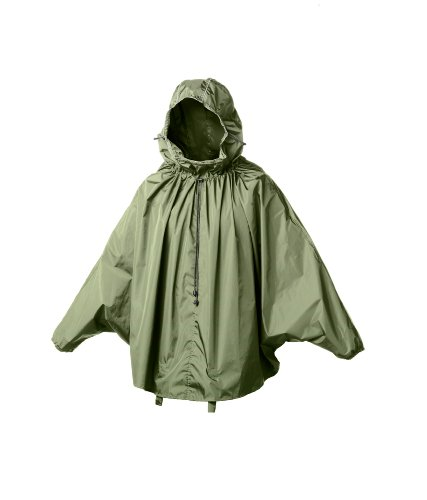 Brooks Saddles Cambridge Rain Cape, Olive, Medium/Large