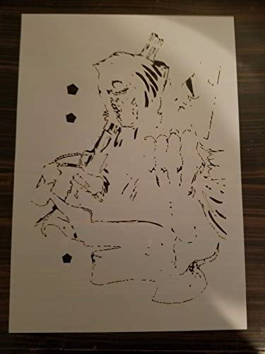 Step by Step Airbrush Stencil AS-156 ~ Template ~ UMR-Design