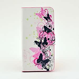 xiao Black Butterfly Pattern Full Body Leather Tpu Case for iPhone 5C