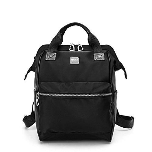 Bolso de Viaje de Mujeres de Gran Capacidad Oxford Travel Mummy Backpack ( Color : Classic Black ) Classic Black