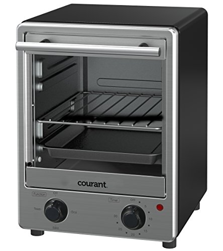 Courant TO-1235 Toastower Toaster Oven with Stainless Steel Front, Black