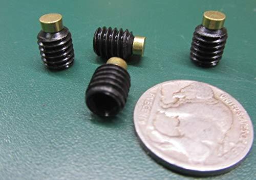 20 pcs 5//16-18 x .375 Length Black Oxide Finish Alloy Steel Brass Tip Set Screw