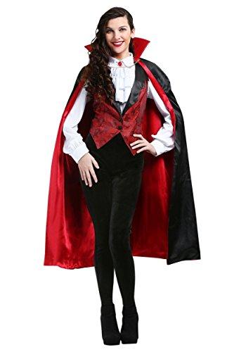 Adult Fashionable Vampire Costume Women's Fierce Vamp Costume X-Large Black