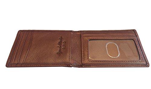 Osgoode Marley RFID Magnetic Bifold Money Clip Mens Leather Wallet (Brandy) ()