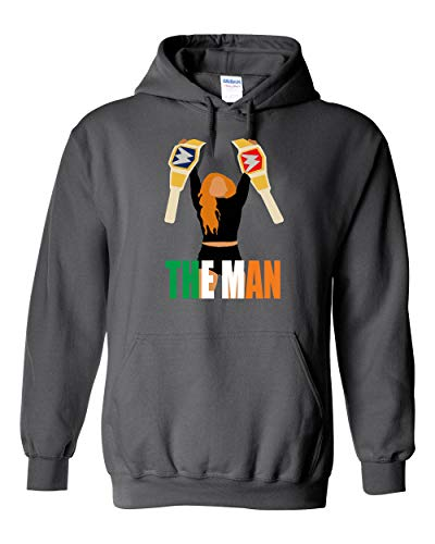 Gray Becky Lynch The Man Double Champion Hooded Sweatshirt Adult