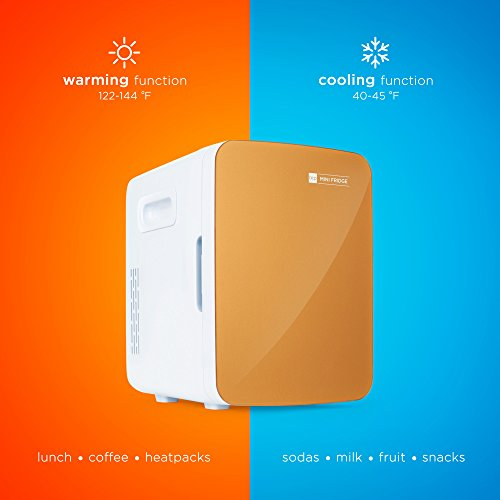 Best Choice Products 10L/11-Can Portable Thermoelectric Mini Fridge Cooler & Warmer w/Shelves, Home, Car Charger - Gold by Best Choice Products (Image #3)