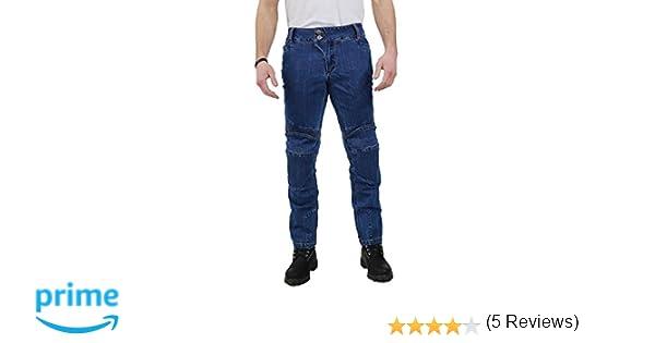 Azul Nerve Ranger Jeans Pantalones Vaqueros de Moto L