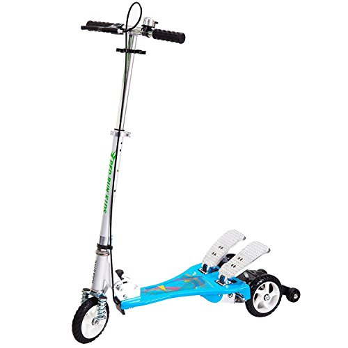 Bike Rassine Kid's Ped-Run Dual Pedal Scooter, Blue