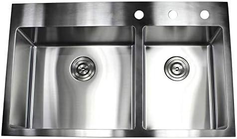 33 x 22 Double Bowl Kitchen Sink