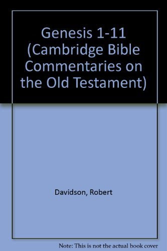 Genesis 1-11 (Cambridge Bible Commentaries on the Old Testament)