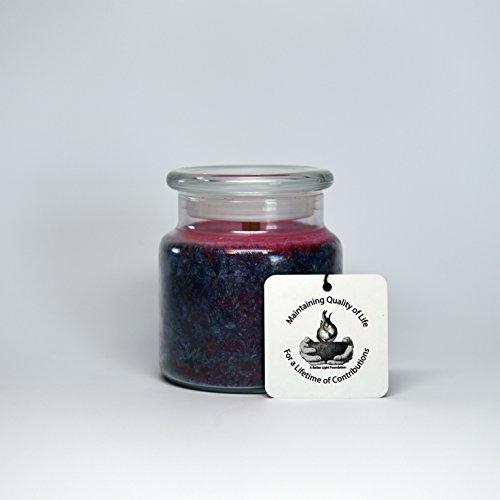 Whimsical Splendor (Royal Splendor) Unscented Soy Jar Candle (22 oz, Blue) (Unscented Jar)