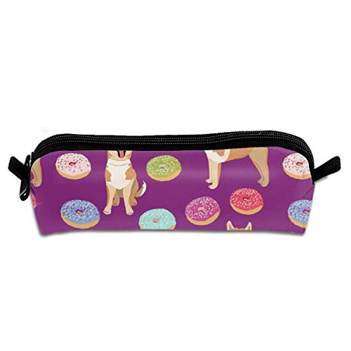 shirt home Akita Donut Dogdonutsdogfoodakita Dogs Purple Pencil Bag Pencil Case Pen Zipper Bag Pouch Holder Makeup Brush Bag for School Work Office 8.3 x 2.2 x 2 Inch