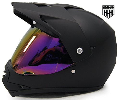 SmartDealsNow - HHH DOT Youth & Kids Helmet for Dirtbike ATV Motocross MX Offroad Motorcyle Street bike Snowmobile Helmet with VISOR (Large, Matte Black) Atv Motocross Motorcycle Helmet