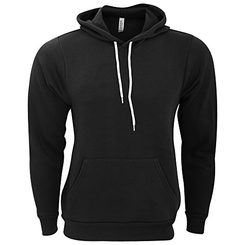 Bella Hooded Pullover (Bella + Canvas Unisex Pullover Polycotton Fleece Hooded Sweatshirt / Hoodie (S) (Black))