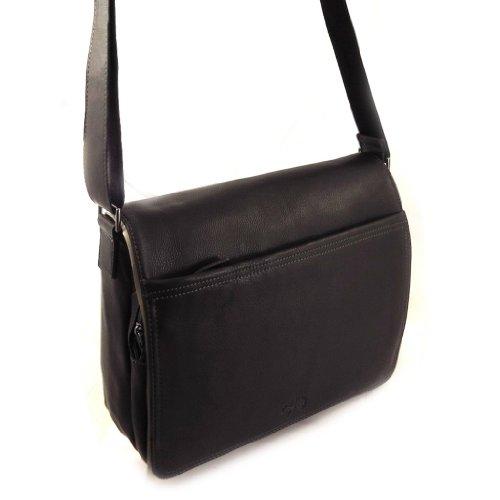 Francinel [L0983] - Sacoche cuir 'Lafayette' noir