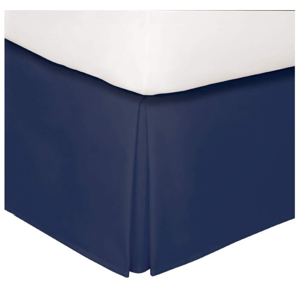 敷居ネイビーベッドスカート フル ブルー B07J9KKVPY  フル