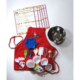 Playful Chef Deluxe Cooking Kit with Red Apron