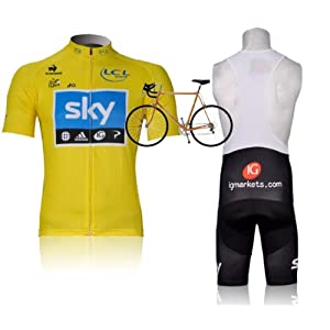 New SKY Racing Team v¬_lo maillot manches courtes set version Discontinued Tissu