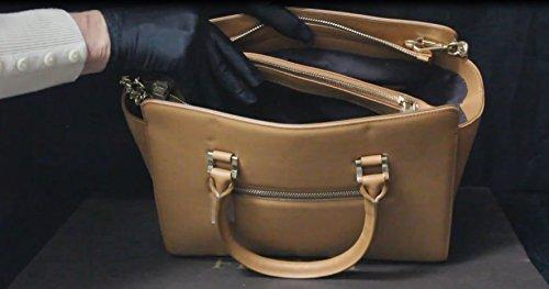 FERETI sac bandoulière Cabas marron clair en cuir sac à main épaule