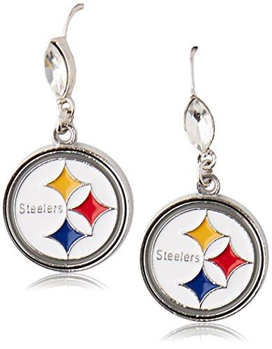 - Siskiyou NFL Pittsburgh Steelers Crystal Dangle Earrings