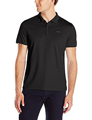 Calvin Klein Men's Jersey Interlock Liquid Cotton Reg Fit Short Sleeve Polo