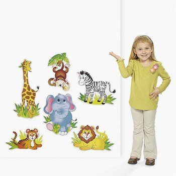 6 Zoo Animal Cutouts - Teacher Resources & Classroom Decorations ()