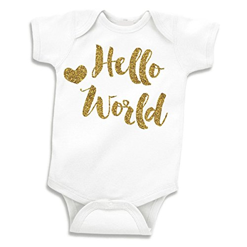 Baby Girl Clothes, Take Home Outfit, Hello World (0-3 Months)