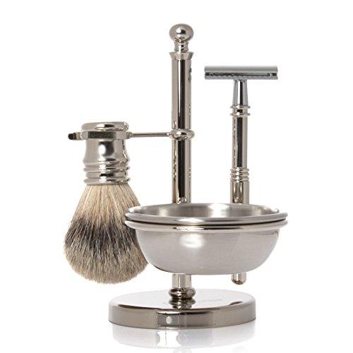 【人気商品!】 GOLDDACHS GOLDDACHS Shaving Badger, Set, Safety razor, Finest Badger, chrome plated razor, metal B075M5BYTY, BAG LOVERS STREETs:86c908a3 --- arianechie.dominiotemporario.com
