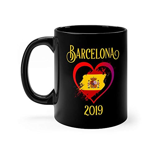 Barcelona 2019 Mug 11 Ounce Coffee Mug, 11oz Ceramic Coffee Cups, Funny Gift Mug, Unique Novelty Gift Tea Mugs, Funny Mug For Men, Women, Him, Her