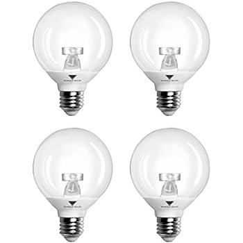 pack of 4 g25 led bulb 6w warm white 3000k 40w