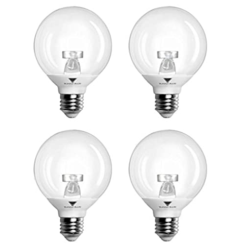 Decorative vanity light bulbs amazon pack of 4 g25 led bulb 6w warm white 3000k 40w led vanity light globe bulb incandescent replacement with clear cover dimmable ul listed and energy aloadofball Gallery