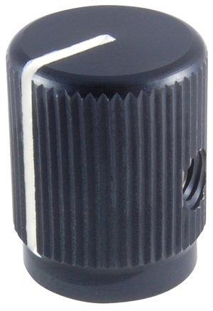 NTE Electronics 504-0107 Series JD Machined Aluminum with Position Line Knob, Matte Finish, 0.750'' Diameter, 0.125'' Shaft Diameter, Black