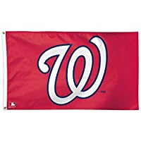 MLB Washington Nationals 01797215 Deluxe Flag, 3' x 5'