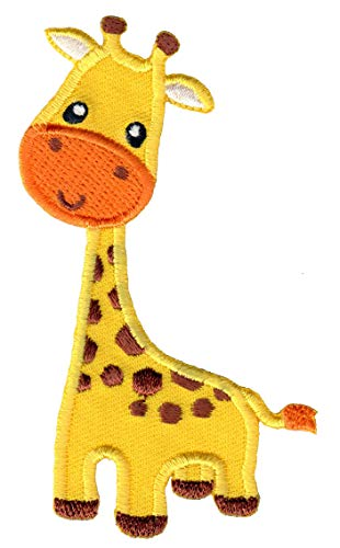 PatchMommy Iron On Patch, Giraffe - Appliques for Kids Children