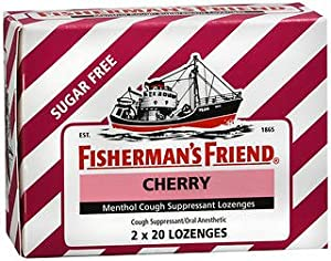 Fisherman's Friend Menthol Cough Suppressant Lozenges Sugar Free Cherry - 40 lozenges