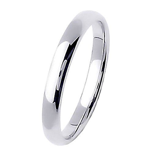 Trustmark Sterling Silver 3mm Classic Domed Unisex His n Hers Wedding Band Ring, Acacia 3123B sz (Best 1000 Jewels Friends Unisex Rings)