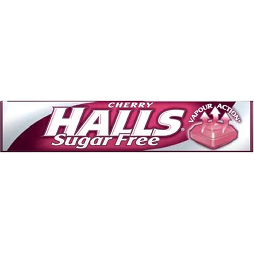 Halls Mentho-Lyptus Throat Lozenges Stick Pack Cherry Sugar-Free 35g by HALLS (35 Lozenges)