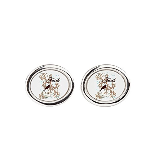 Price comparison product image Cufflinks (Oval) Faith Prayer Dove Christian Cross