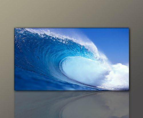 Mehrteiliges Natur-Bild auf Leinwand und Keilrahmen handgefertigt in Deutschland! beste Qualit/ät Berger Designs 4 teiliges Wandbild xxl 4 x 30x50 cm Deep/_Blue/_60x170cm