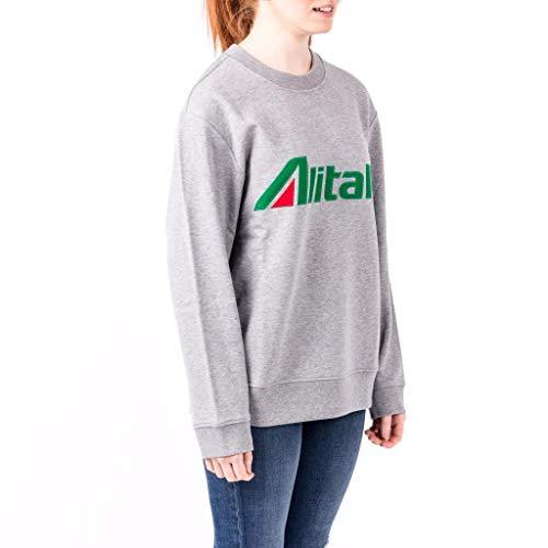 J1701 Felpa Grey Alberta xs Cotone Alitalia Size Ferretti In qfSXX7Tx