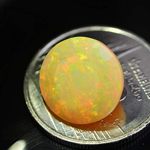 Lovemom 3.67ct Natural Round Unheated Multi-Color White-Opal Ethiopia #W by Lovemom (Image #3)
