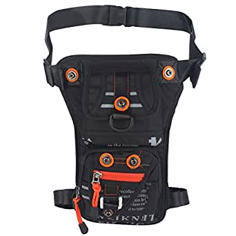 Innturt Nylon Tactical Leg Bag Shoulder Messenger Pouch Fanny Pack Waterproof Black