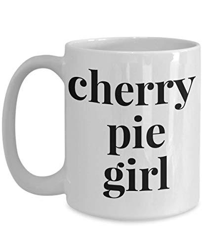 Cherry Pie Lover Mug for Women Ladies Girls, Cherry Pie Girl Novelty Gift Coffee Cup