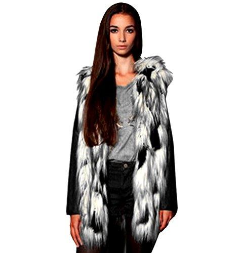 Outwear Faux Image YiLianDa Comme Fourrure Manteau Gilet Automne sans Court Manches Veste Femmes qq6crpfv