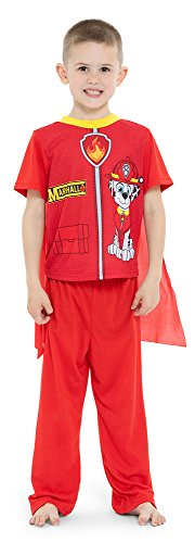 Paw Patrol Boys' Toddler Marshall 2-Piece Uniform Set with Cape, fire red, 2T]()