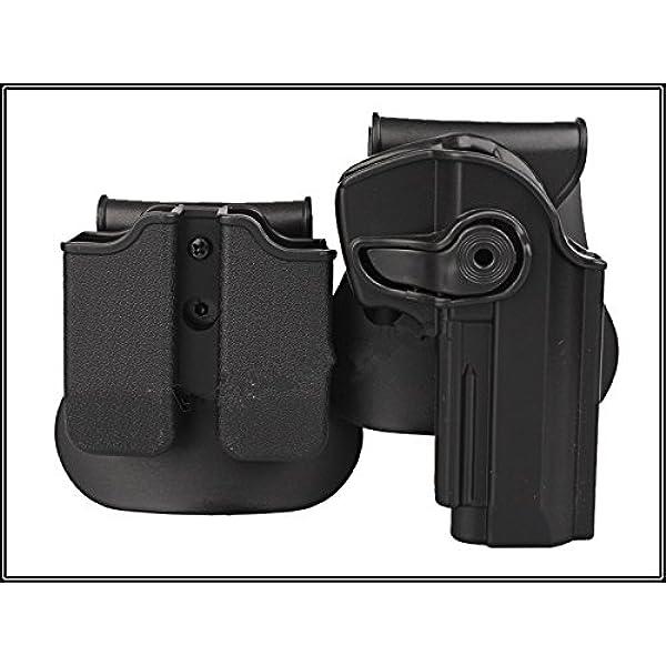 haoYK Taktische Airsoft Pistole Concealment Ziehen Rechtsh/änder Paddle G/ürtel Holster Pouch f/ür Glock 17 19 22 23 31 32 Llavero Incluido